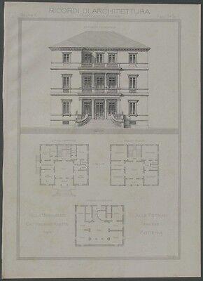 MODENA.Villa Benassati alle fornaci. Litogr. anno 1888