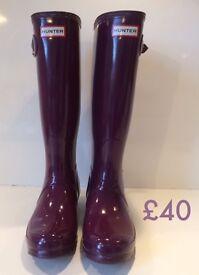 Hunter Wellies - purple size 5 brand new