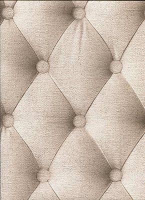 Padded Fabric Headboard Chesterfield Effect Feature Wallpaper Beige 44861407 for sale  Shipping to Canada