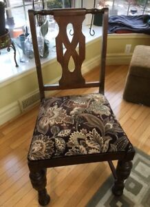 Antique Black Walnut Chair.