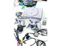 Sony PlayStation 1 SCPH-9002- Grey. / MEMORY BUNDLE / 11 GAMES