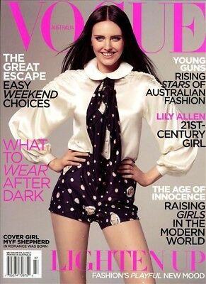 Vogue Australia Magazine 7/2009 fashion women MYF SHEPHERD