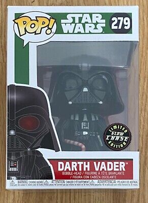 FUNKO POP! STAR WARS Christmas Darth Vader #279 Lmited Chase GID Brand New