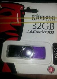 Kingston usb memory stick 32gb new