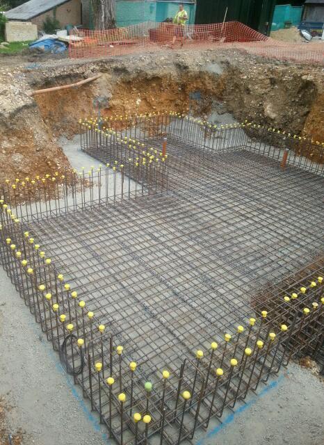 Basements retaining walls block and beam reinforced