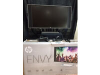"HP Envy 32"" Computer Monitor - Used twice - Bang and Olufsen audio"