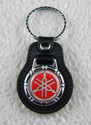 YAMAHA MOTORCYCLES KEY FOB RED II KEY CHAIN KEY RING DRAG STAR R1 R6 PATCH (Star Key Ring)