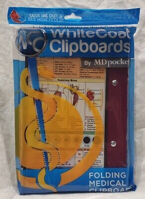 Whitecoat Clipboard Folding Medical Aluminum Student Nurse