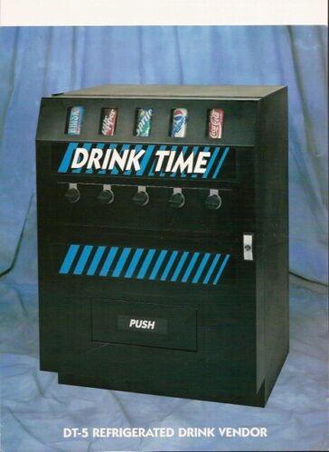 - SODA cold drink VENDING MACHINE-LIVE CAN DISPLAY -Dundas VM250  !!