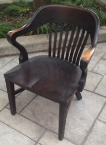 Vintage Banker's Chair/Library Chair