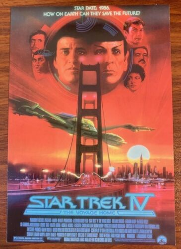 Star Trek IV The Voyage Home Postcard by Classico San Francisco Free Shipping