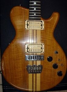 Michael Kinal Electric Guitar 1981 Oak & Teak Beautiful