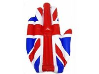 NEW Giant Inflatable Hand Union Jack Flag for Sports Events & Matches Football Rugby