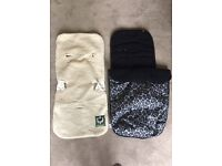 Buggy footmuff (Mothercare) and Sheepskin seat cover