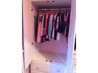 Wardrobe and bookcase - bedroom furniture