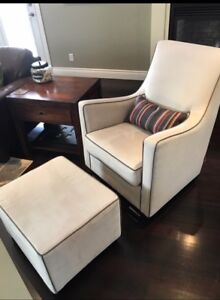 Monte Luca Glider and Ottoman For Sale