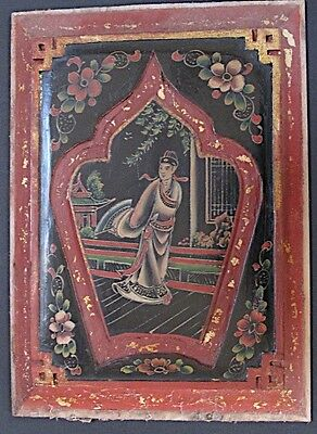 Antique Panel Wooden Painted Chinese