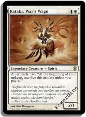 1 PLAYED FOIL Kataki, War's Wage - White Saviors of Kamigawa Mtg Magic Rare 1x x for sale  Shipping to Nigeria