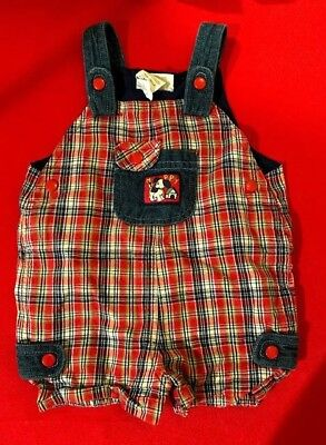 Baby Togs GIRLS 6-9 MONTHS Boys Overalls Dog Puppy Plaid Clothes Shirt Pants EUC