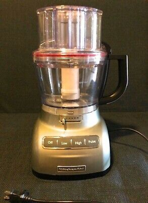 Kitchen Aid R-KFP0711 7-Cup Food Processor Contour Silver Excellent/Used