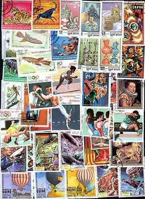 Guinée Bissau - Guinea Bissau 500 timbres différents oblitérés