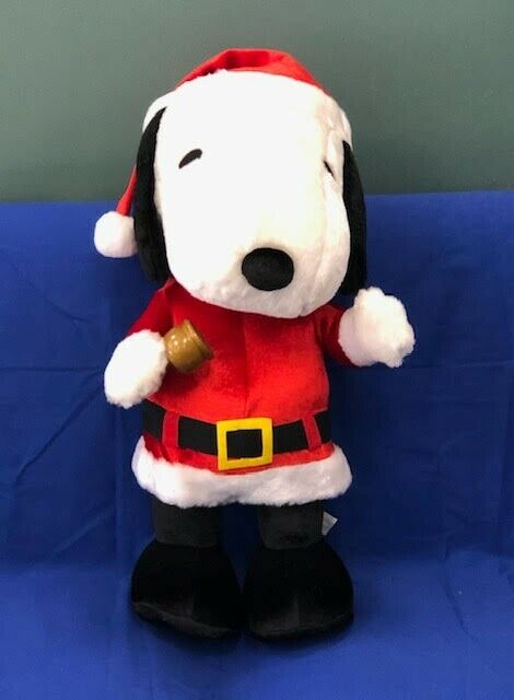 21 inch Plush Santa Snoopy holding bell. New OOB.