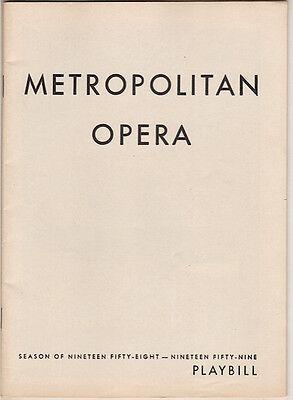 """Regina Resnik Metropolitan Opera Playbill """"La Gioconda"""" 1959 Richard Tucker"""
