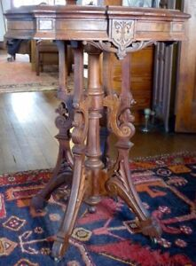Antique Victorian Marble Top Table