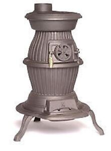 Fireplace Cast Iron Country Pot Belly Multi Fuel Stove Wood Burning Patio Heater Ebay