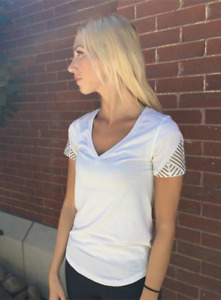 """Lululemon """"What the Sport Tee""""  Size 12, Never Worn"""