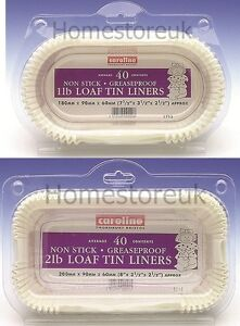 40 pack set 1lb 2lb loaf tin liner paper cake baking case. Black Bedroom Furniture Sets. Home Design Ideas