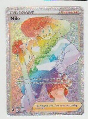 MILO 201/192 Pokemon REBEL CLASH Trainer Full Art Foil Ultra SECRET Rare