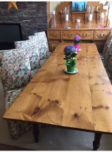 Dining Table Antique Pine and cherry