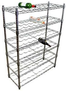 Chrome 6 Shelf- 54 Bottle Wine Rack