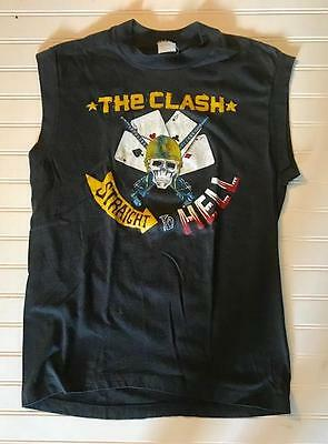 THE CLASH 1984 STRAIGHT TO HELL T-SHIRT RAMONES SEX PISTOLS ORIGINAL Rare!