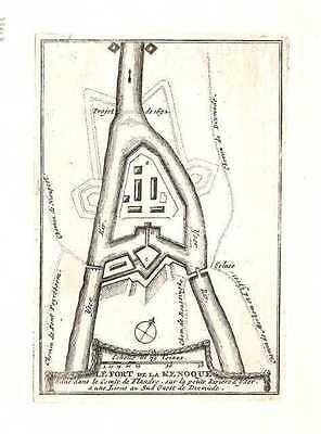 Antique map, Le Fort de la Kenoque