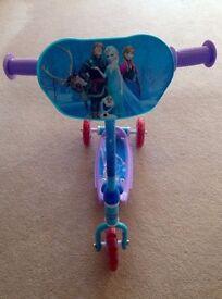 Nearly new Frozen three wheel scooter - girls love it