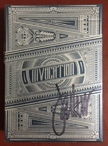 Invocation Playing Cards Signed Jackson Robinson Only 140 Rare New Sealed