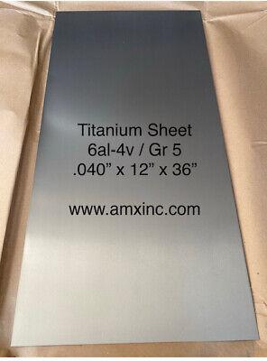 Titanium Sheet 6al-4v .040 X 12 X 36