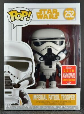 LIMITED EDITION EXCLUSIVE SDCC Funko POP! Star Wars Imperial Patrol Trooper #252