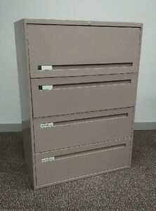 Used 4 Drawer Lateral in Light Rose Colour Peterborough Peterborough Area image 1