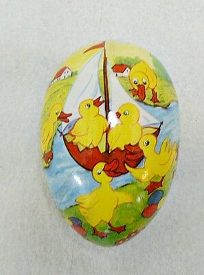 VINTAGE EAST GERMAN PAPER MAICHE EASTER EGG CANDY HOLDER LOT 5