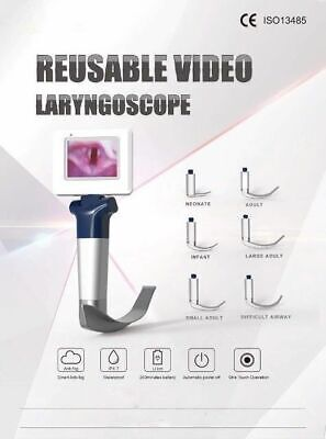 Portable Reusable Video Laryngoscope Anesthesia Ce Approved