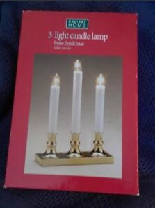 Christmas Candle set - brass base - new in box