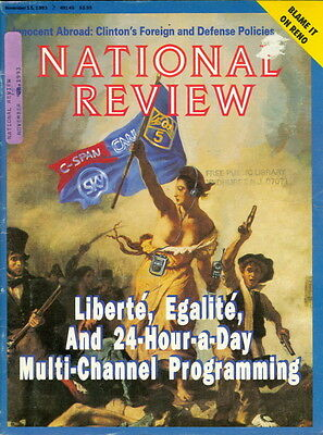 1993 National Review Magazine  C Span Cnn Fox 24 Hour A Day Multi Channel News