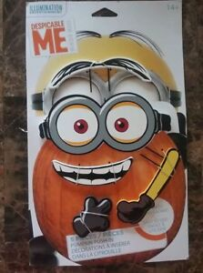 Minions Movie Despicable Me Halloween Wood Pumpkin Push-in 5