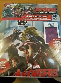 Brand new sealed Avengers single duvet set