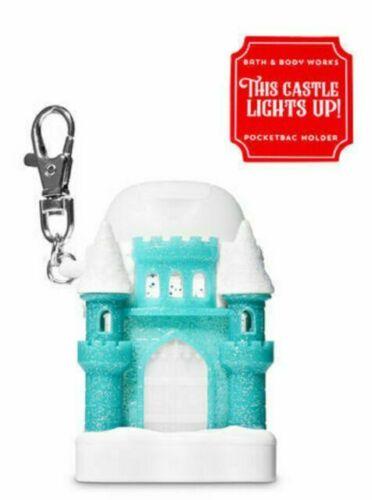 Bath & Body Works Pocket *Bac Hand Gel Holder Blue White Ice Castle Clip NWT