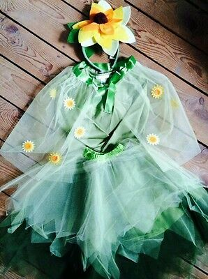 NWT POTTERY BARN KIDS SUNFLOWER FAIRY DRESS UP COSTUME kids sz 4-6 - Sunflower Dress Up
