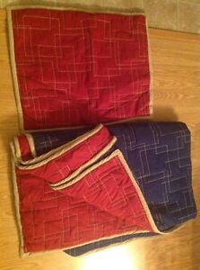 Reversible blue and red